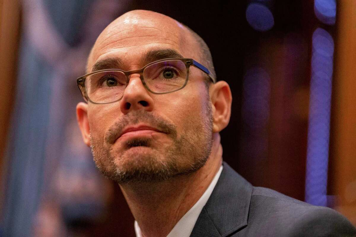 Speaker of the House Dennis Bonnen announces a tax reform plan at the State Capitol in Austin, Wednesday, Jan. 31, 2019.(Stephen Spillman / for Express-News)
