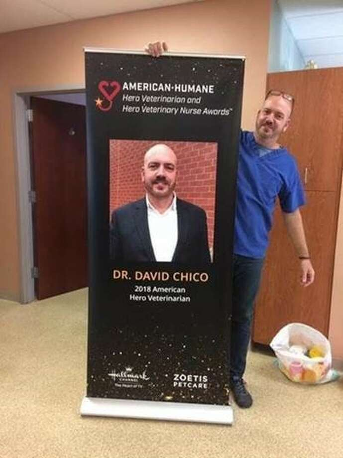 David Chico, a veterinarian at New York State Agriculture and Markets, received the 2018 American Humane Hero Veterinarian Award. (Submitted photo)