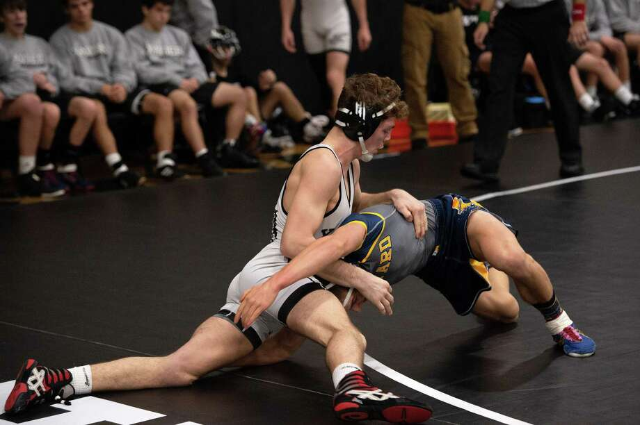 Xavier's James Lunt wrestles during a meet earlier this season. Photo: Yolanda Christine Photography/Contributed Photo / Rick Dubie-New Image Photography 2018
