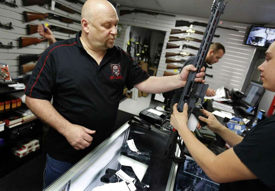 At the start of 2019, there was a backlog of 18,000 entries for the State Police Special Licensing and Firearms Unit system, which is used to track Connecticut gun purchases. In the past three weeks, the backup has been reduced to 5,000. Photo: Barbara Davidson / Los Angeles Times / Los Angeles Times