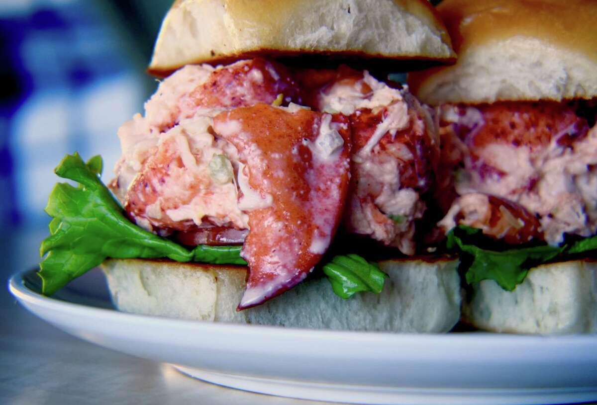 Lobster sliders at Bernie's Burger Bus.