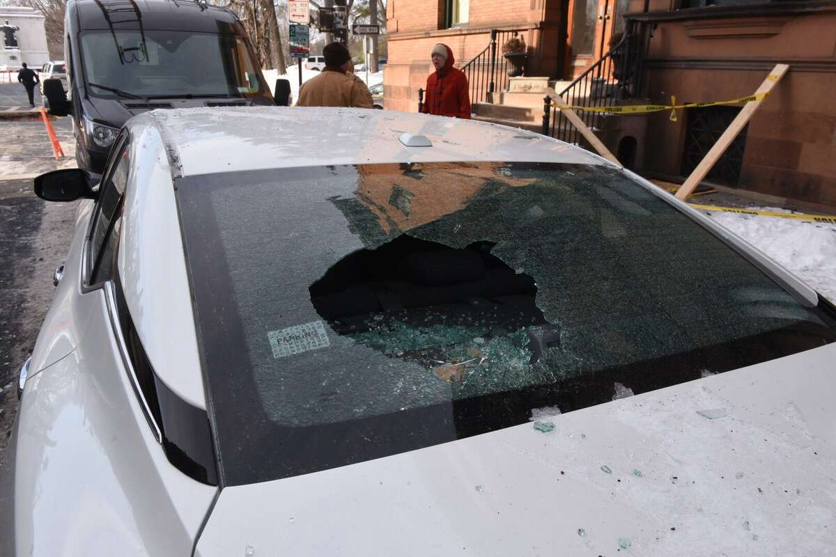 A manhole explosion shattered windows in buildings and cars around Henry Johnson Boulevard and State Street in Albany.