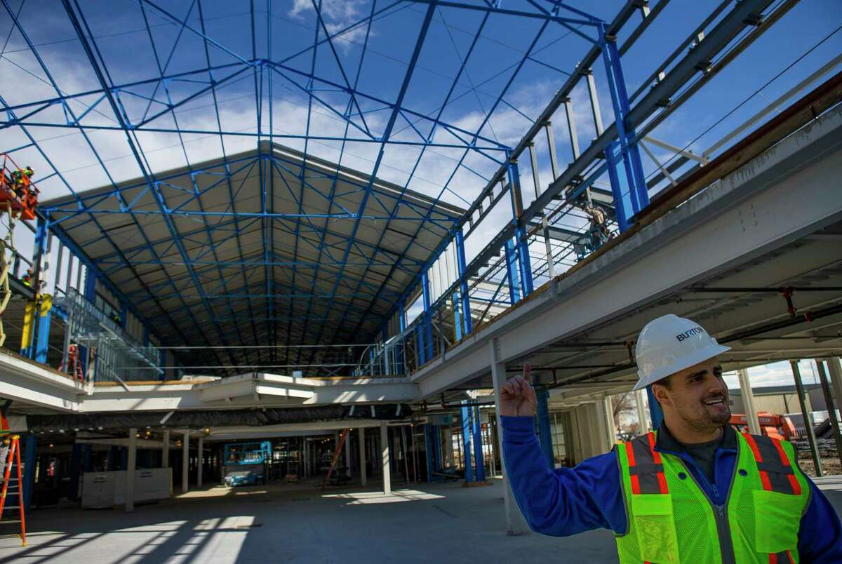 Lawson Got, founder and CEO of The Cannon, tours the ongoing construction of The Cannon's new building in west Houston, Monday, Jan. 28, 2019. The tech incubator and co-working space is currently expanding on the former industrial space on Brittmore Road just west of Beltway 8 at Interstate 10.