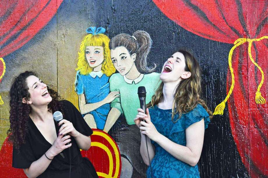 Comedian, teacher and Middletown native Tricia D'Onofrio, right, and Aviel Stern, left, who lives in Amherst, Massachusetts, are The Tasty Chicks. They bring funny, quirky comedy to their non-offensive and all-inclusive shows. Photo: Contributed Photo