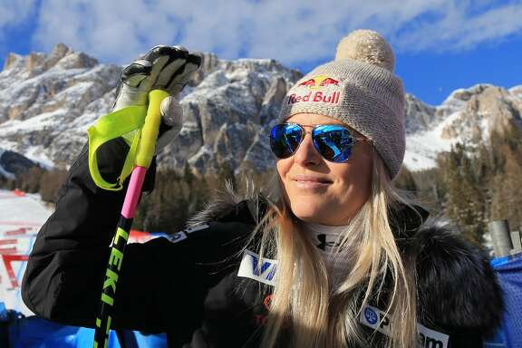 18th January 2019, Cortina D'Ampezzo, Italy; FIS Ski World Cup, ladies downhill; Lindsey Vonn (USA) in a good mood back from injury (photo by Pierre Teyssot/Action Plus via Getty Images)
