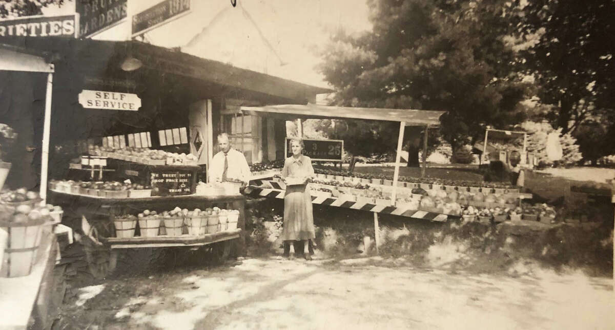 Spectrum/Residents of New Milford frequently flocked to the Wayside Fruit & Garden Stand at 43 Park Lane Road (Route 202) during the mid-1900s. The stand was operated by Bette Lou Emmon's grandparents, Annie Bostwick Howland and Edward Clyde Howland. This photograph was taken in 1938. If you have a