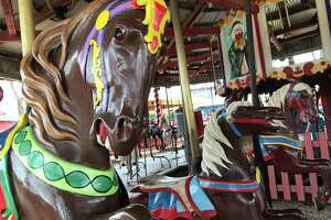All horses on the Kiddie Park carousel are hand-carved, with no two horses alike.