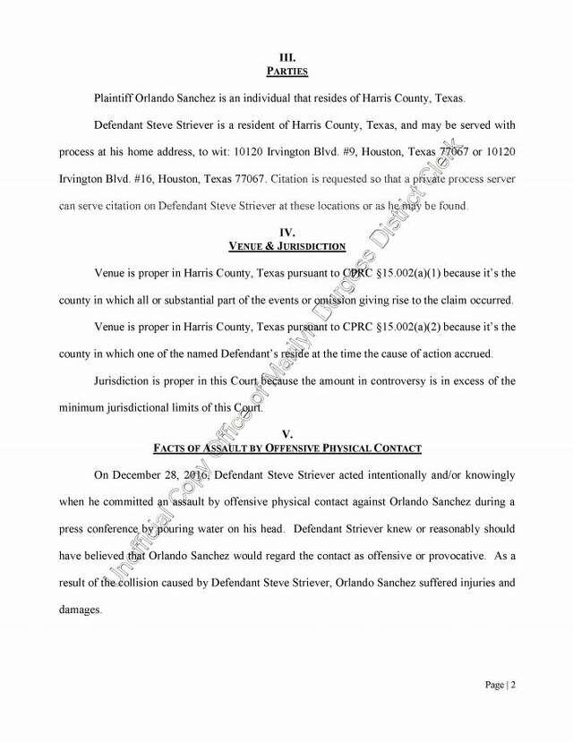 Former Harris County treasurer files $1 million suit after