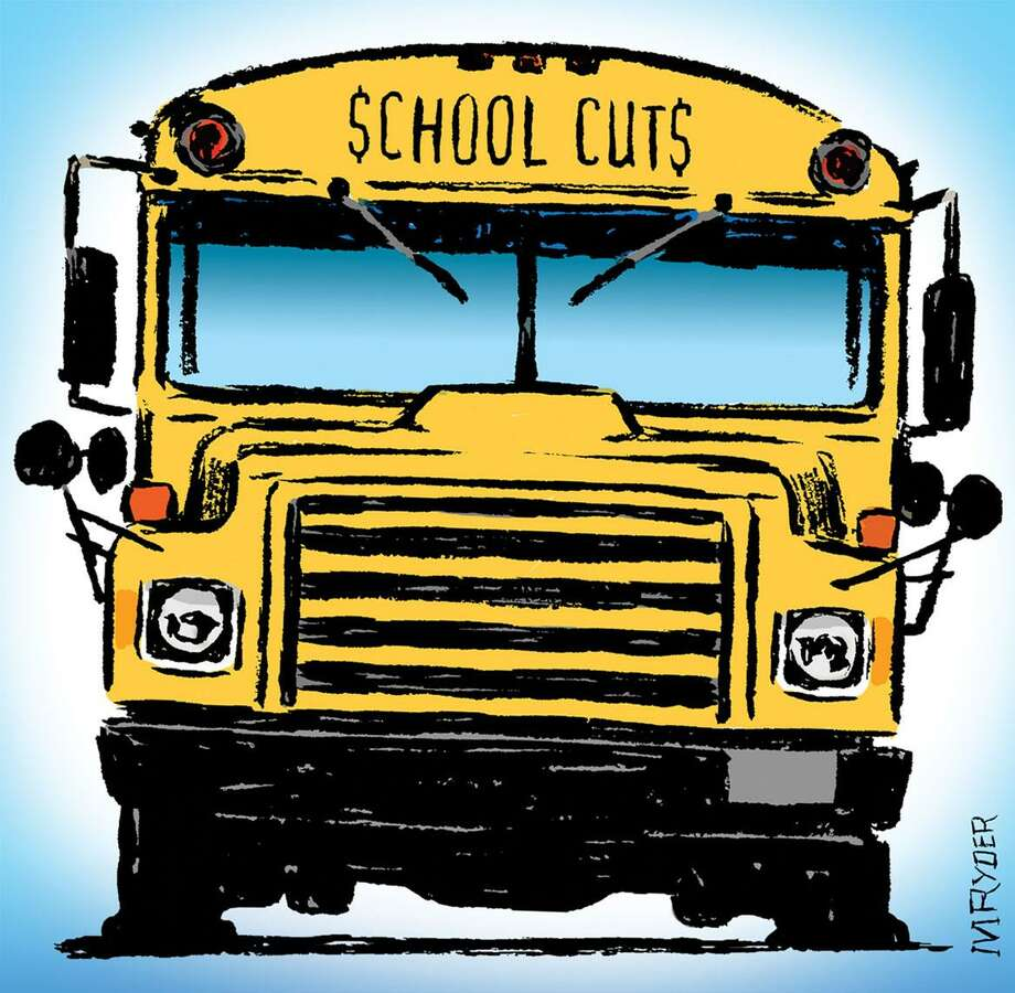 This artwork by M. Ryder relates to cuts in funding for public schools. Photo: M. Ryder