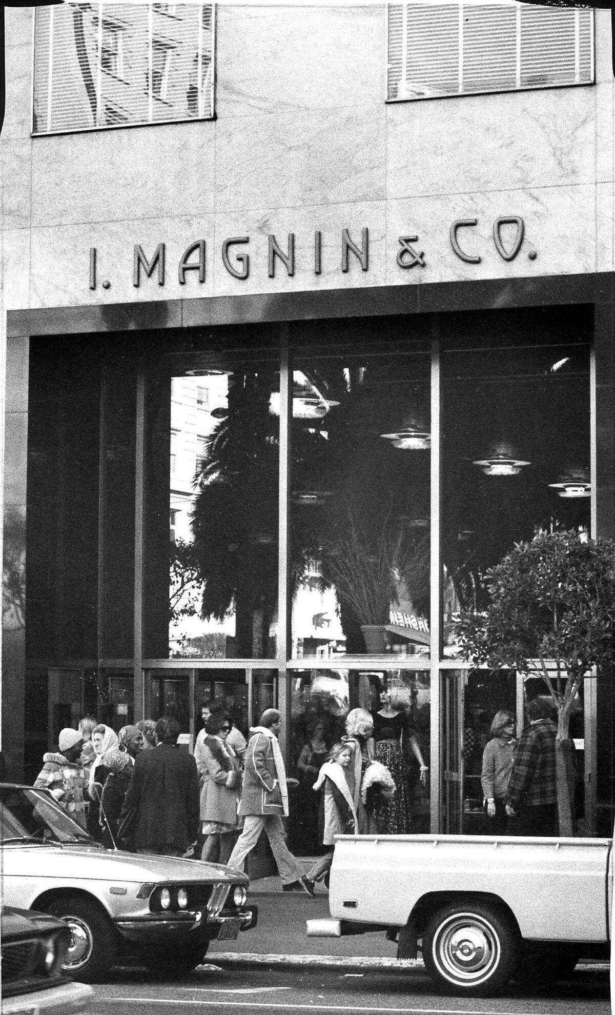 The I. Magnin building on Union Square, March 2, 1976