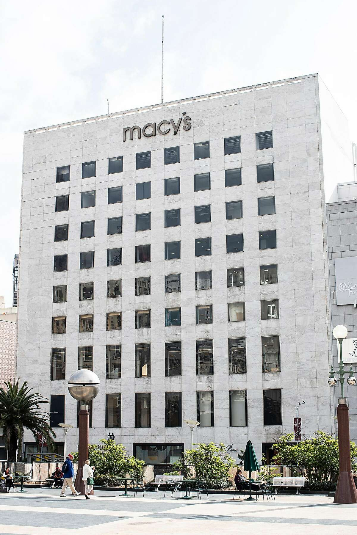 Macy's I. Magnin building is seen from Union Square in San Francisco, Calif. on Thursday, Jan. 31, 2019.