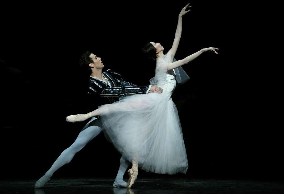"Yuriko Kajiya and Connor Walsh in a scene from Stanton Welch's ""Giselle,"" which will open Houston Ballet's 2019-20 season. Photo: Amitava Sarkar / Amitava Sarkar"