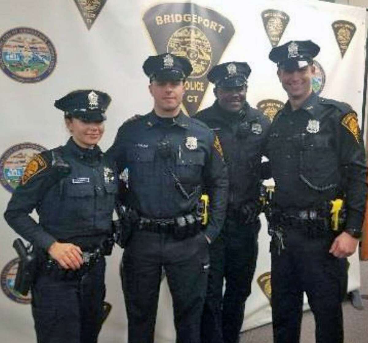Several Bridgeport, Conn., police officers received awards at a ceremony on Jan. 29, 2019.