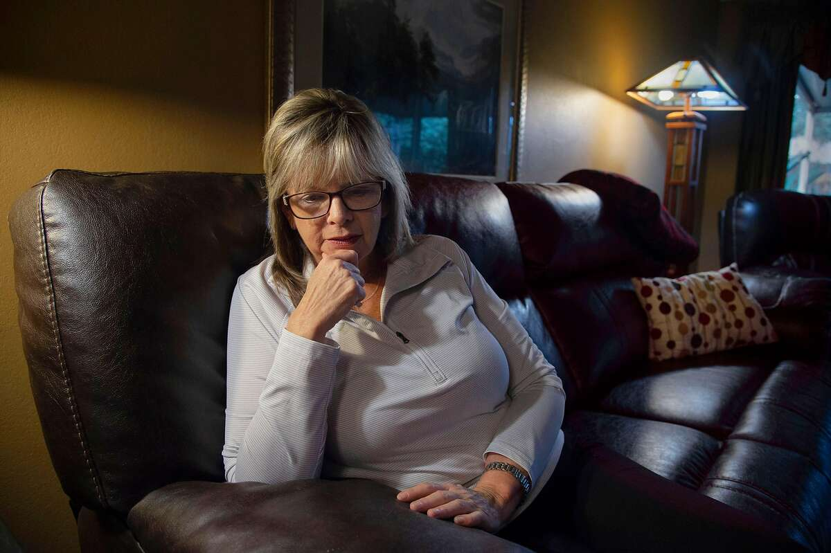 Joanna Jurgens, 56, reflects on her mentally ill son Jeffrey Jurgens Jr., 27, on Tuesday, January 8, 2019 in West Sacramento, Calif. Jurgens' son is serving time at Atascadero State Hospital for stealing a car in 2013 from a valet which ultimately lead to an outburst in front of a judge.