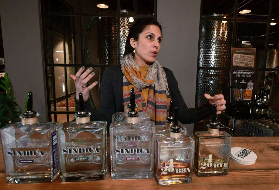 Ami-Lynn Bakshi, partner at the new 1420 Distillery, the only distillery in the world that infuses its whiskeys with hemp seed, Wednesday, January 30, 2019, in South Norwalk, Conn. 1420 Distillery offers an open house Sunday which celebrates the 100th anniversary of Connecticut's failure to ratify the 18th amendment, making it one of two states to strike down Prohibition. Photo: Erik Trautmann / Hearst Connecticut Media / Norwalk Hour