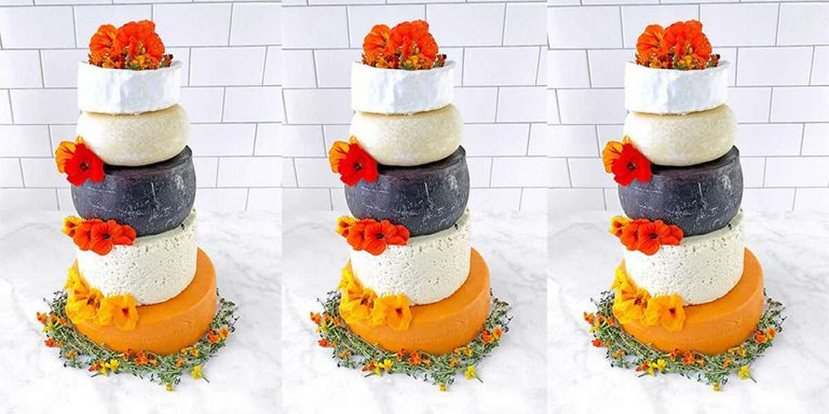 You can get a wedding cake made of five different types of cheese at Costco. Click on the slideshow ahead to see other wedding cake alternatives >>>