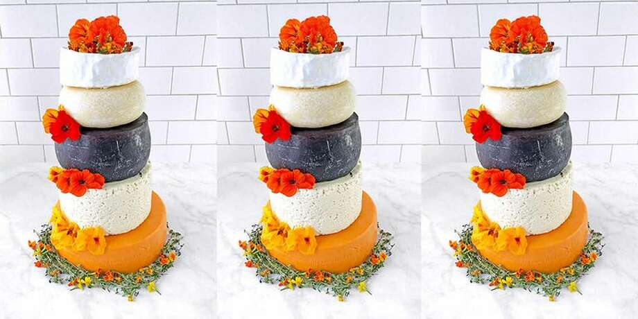 You can get a wedding cake made of five different types of cheese at Costco. Click on the slideshow ahead to see other wedding cake alternatives >>> Photo: Costco
