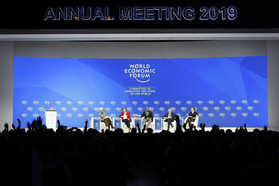 Conspicuous in its absence from the World Economic Forum in Davos last week was the United States, which kept its delegation home because of a Trump spat with the U.S. House. Photo: Jason Alden /Bloomberg / © 2019 Bloomberg Finance LP