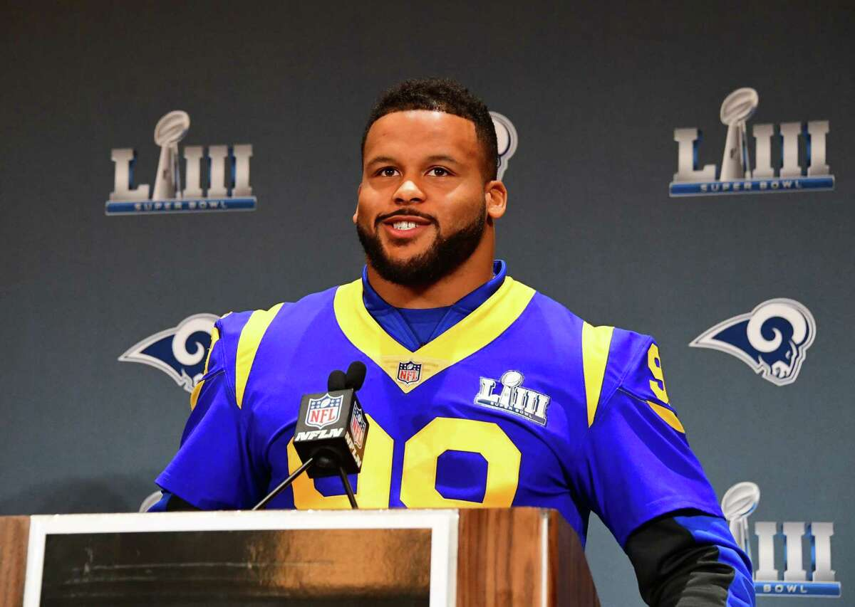 Aaron Donald is poised to win his second NFL Defensive Player of the Year award, one shy of the record held by Lawrence Taylor and J.J. Watt.