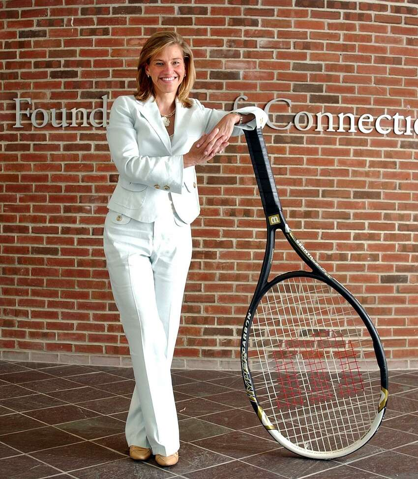 06/12/05 Photo-Peter Casolino Reg0389 New Haven--Tournament Director Anne Worcester's job just doubled in size this year with the addition of Men to the Pilot Pen Tennis Tournament. Photo-Peter Casolino