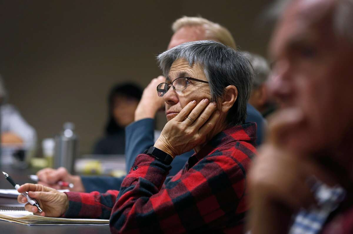 Denise Trahan attends a two-day presentation in Oakland, Calif. on Wednesday, Jan. 23, 2019 to train tax preparers who will be volunteering their services for the AARP Foundation Tax-Aide program.