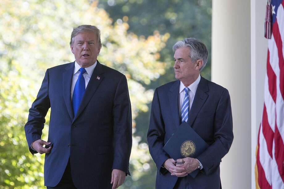 President Trump has criticized Fed Chairman Jerome Powell over rate increases, but they have eased. Photo: Tom Brenner / New York Times 2017