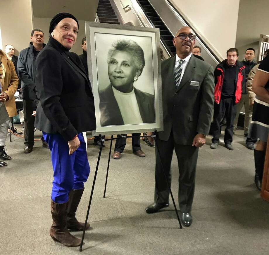 A portrait of Margaret E. Morton was unveiled in the government center named after her in Bridgeport, Conn., on Feb. 1, 2019, as the kickoff for the city's celebration of Black History Month. Photo: Tara O'Neill / Hearst Connecticut Media / Connecticut Post