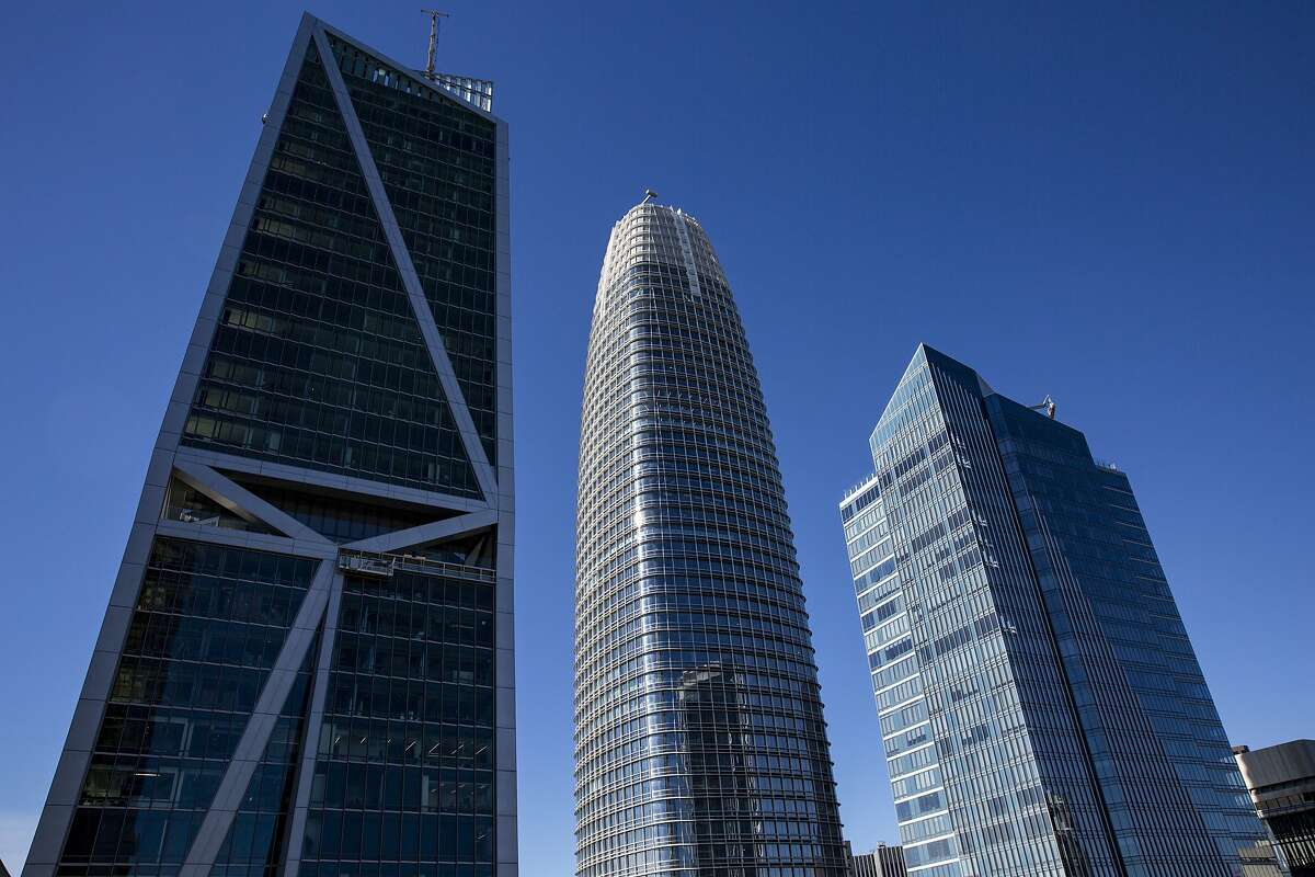 From left: 181 Fremont, Salesforce Tower and Millennium Tower seen from Park Tower at Transbay on Thursday, Jan. 24, 2019, in San Francisco, Calif.