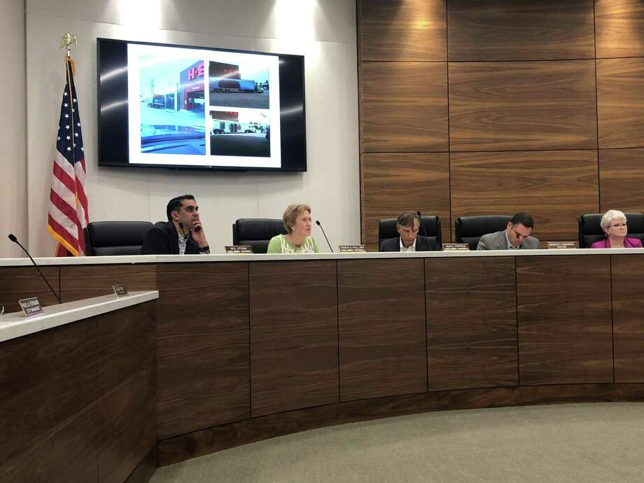 Three petitions from Bellaire residents calling for a special election over sidewalks were presented to city council members at their meeting on Monday, Jan. 28. If enough signatures are verified, it would be Bellaire's first resident-initiated special election since 1981. Photo: Tracy Maness