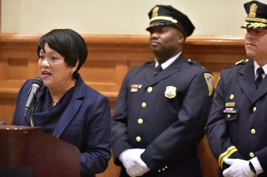 The New Haven PD's Sergeants', Lieutenants' and Detectives' Promotional Ceremony took place on Thursday, Jan. 31 at City Hall. Photo: Peter Hvizdak, Hearst Connecticut Media / New Haven Register