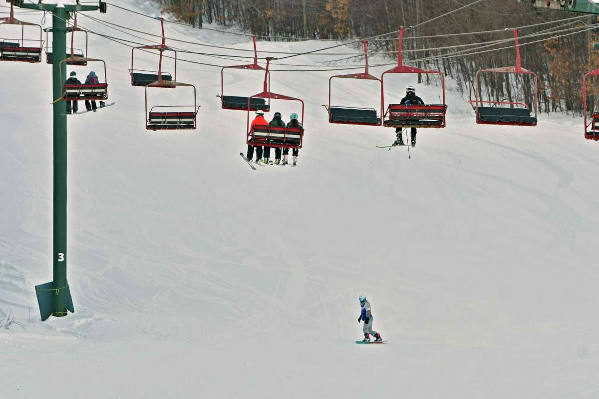 Skiers and snowboarders enjoy the conditions at West Mountain Ski Center on Friday, Feb. 1, 2019 in Glens Falls, N.Y. (Lori Van Buren/Times Union)