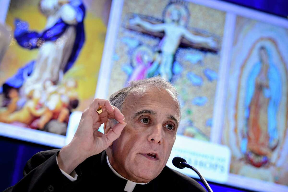 Galveston-Houston Cardinal Daniel DiNardo, President of the USCCB General Assembly, speaks during a press conference at the annual US Conference of Catholic Bishops November 12, 2018 in Baltimore, Maryland. (Photo by Brendan Smialowski / AFP)BRENDAN SMIALOWSKI/AFP/Getty Images
