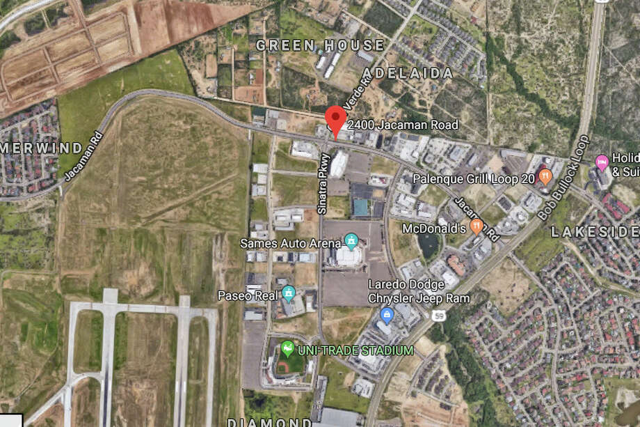 Laredo police officers said they heard what appeared to be two gunshots while patrolling the area of the 2400 block of Jacaman Road. Photo: Google Maps/Street View