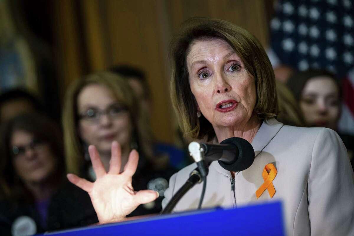 House Speaker Nancy Pelosi, D-Calif., speaks in Washington, D.C., on Jan. 8, 2019.