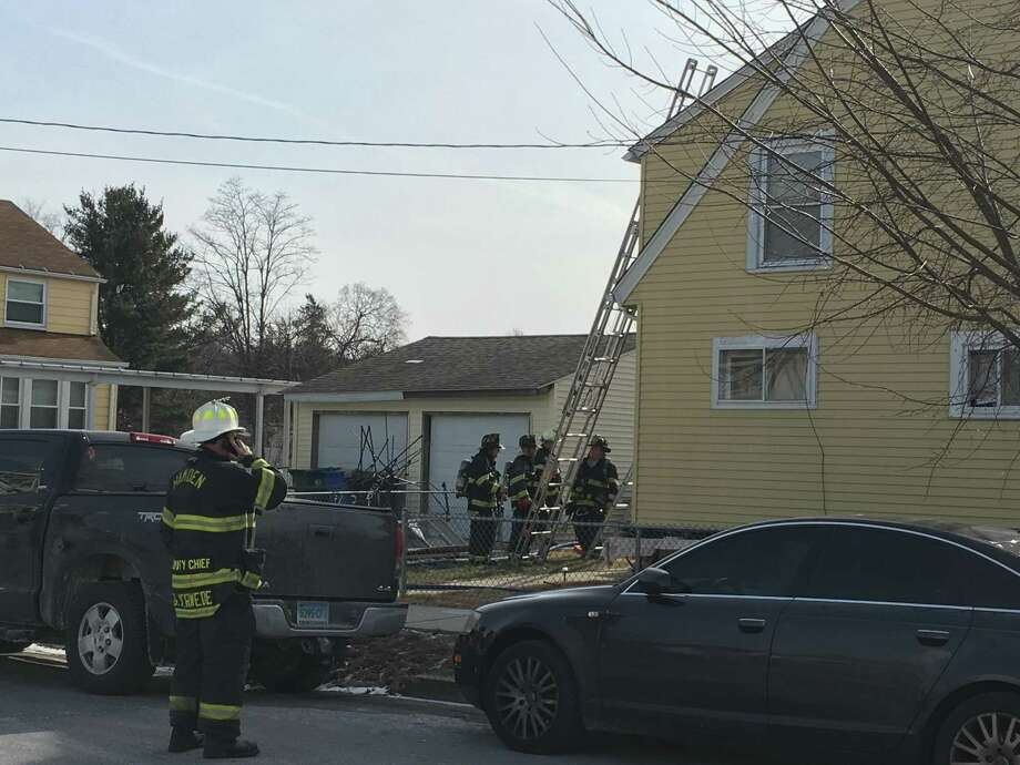The Hamden Fire Department responded to a fire on February 2, 2019 at 453 Newhall Street. They rescued three occupants by extricating them through windows. The fourth occupant escaped unaided. Photo: Meghan Friedmann / Hearst Media CT