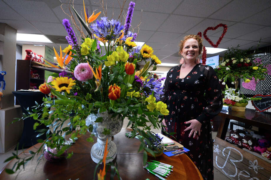 Jenny Cudd, owner of Becky's Flowers, hosted a launch party for her nationwide online flower company, CYA Flowers.com, Feb. 1, 2019, at Becky's Flowers. James Durbin / Reporter-Telegram Photo: James Durbin / Midland Reporter-Telegram / ? 2019 All Rights Reserved