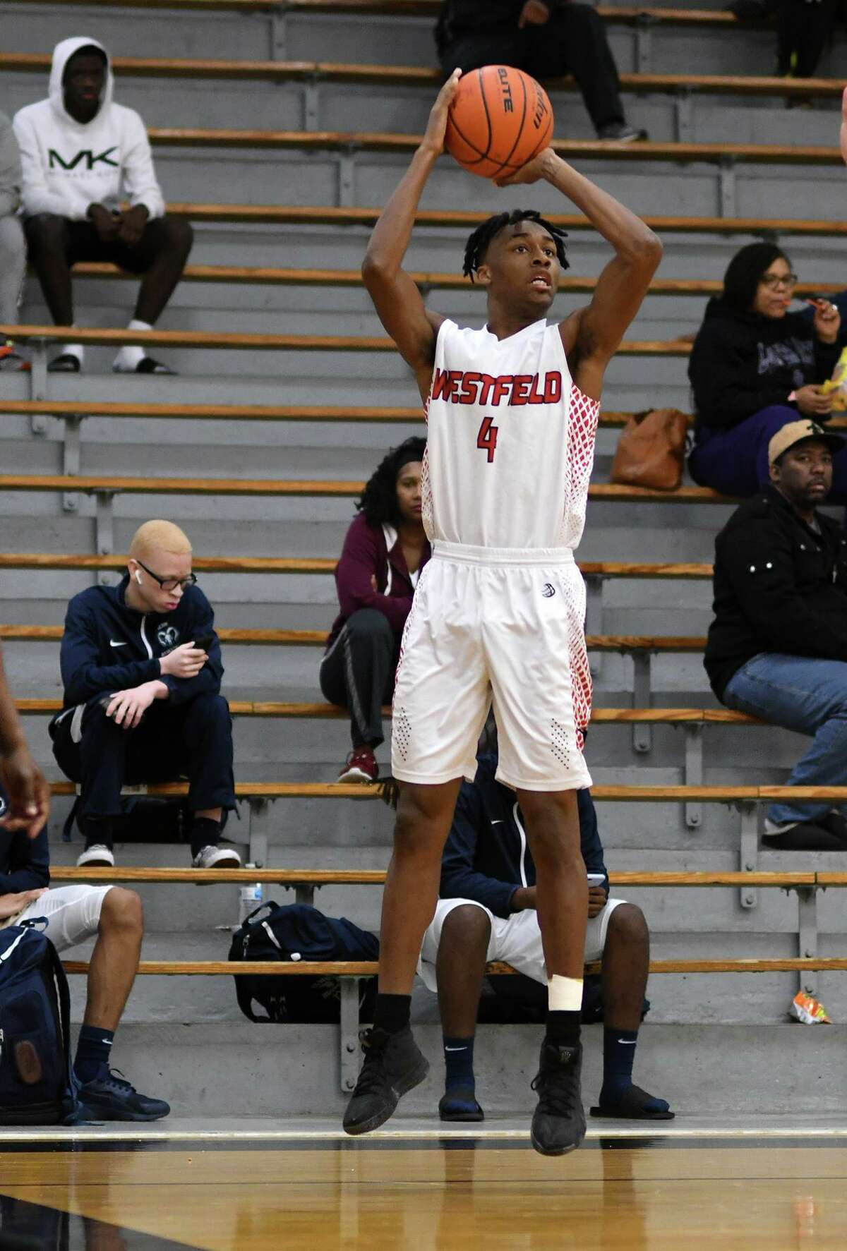 Westfield junior Eli Lee sets for a three point shot against Klein during their matchup at the 54th Annual Conroe Christmas Classic at Conroe High School on Dec. 28, 2018.