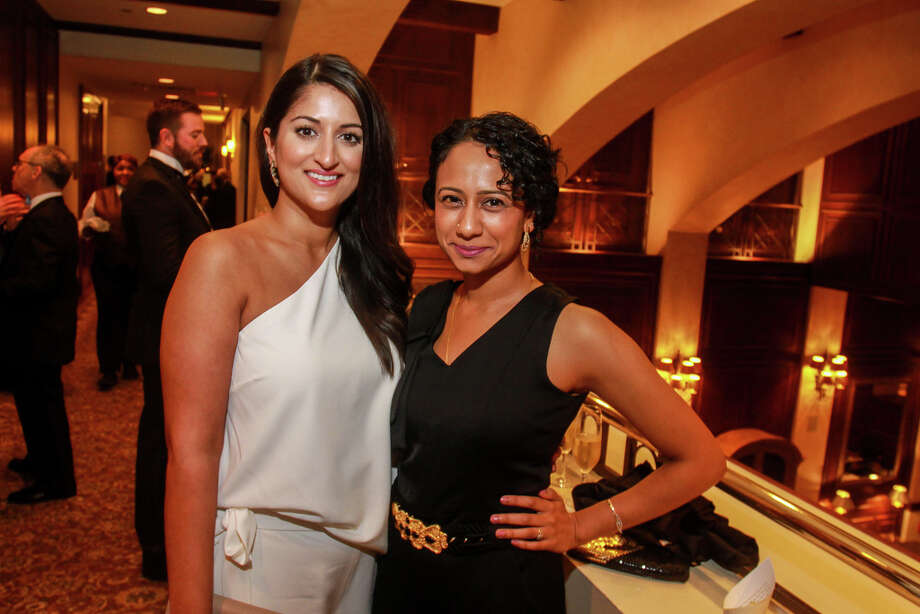 Gauri Nautiyal, left, and Chaya Nautiyal Murali at the Inprint Poets & Writers Ball at the Houstonian. Photo: Gary Fountain, Contributor / © 2019 Gary Fountain
