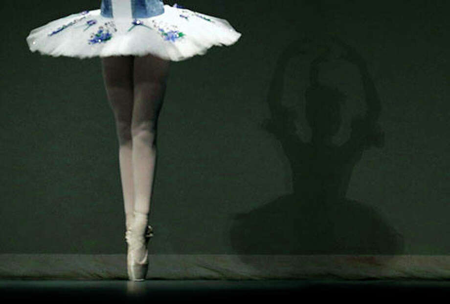 Eva Balicki performs in the Youth America Grand Prix North America regional semi-finals at Dominican University Performing Arts Center in River Forest, Ill., on Friday, Feb. 1, 2019. 2019 is the organization's 20th anniversary season. (AP Photo/Nam Y. Huh)