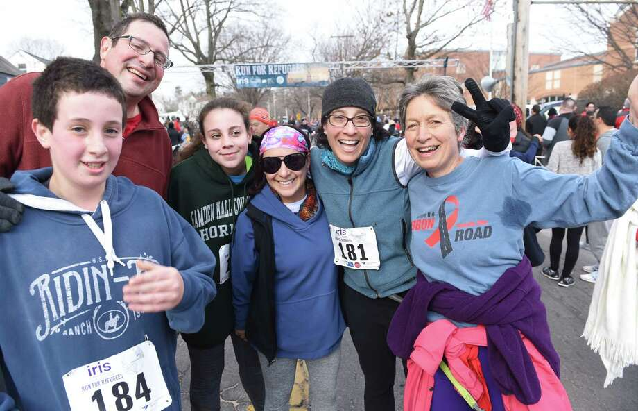 Thousands run in the 12th Annual IRIS Run for Refugees 5K in New Haven on February 3, 2019. Photo: Arnold Gold, Hearst Connecticut Media / New Haven Register