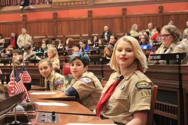 Girls join Boy Scouts at state Capitol on first co-ed day