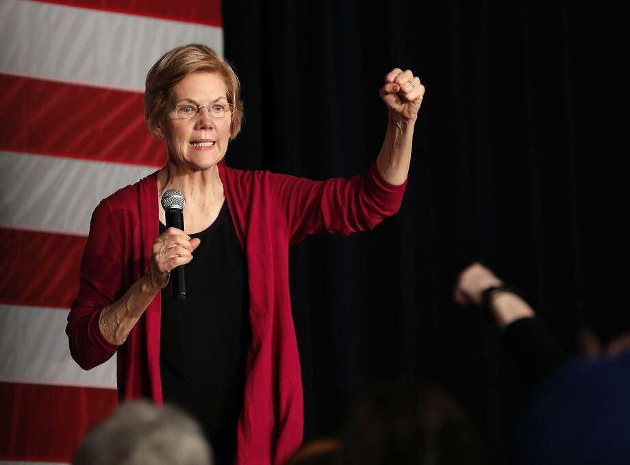 Sen. Elizabeth Warren proposes a 2 percent tax on all assets of people with a net worth of more than $50 million. Other Democratic candidates are also targeting higher income earners. Photo: Matthew Putney / Associated Press
