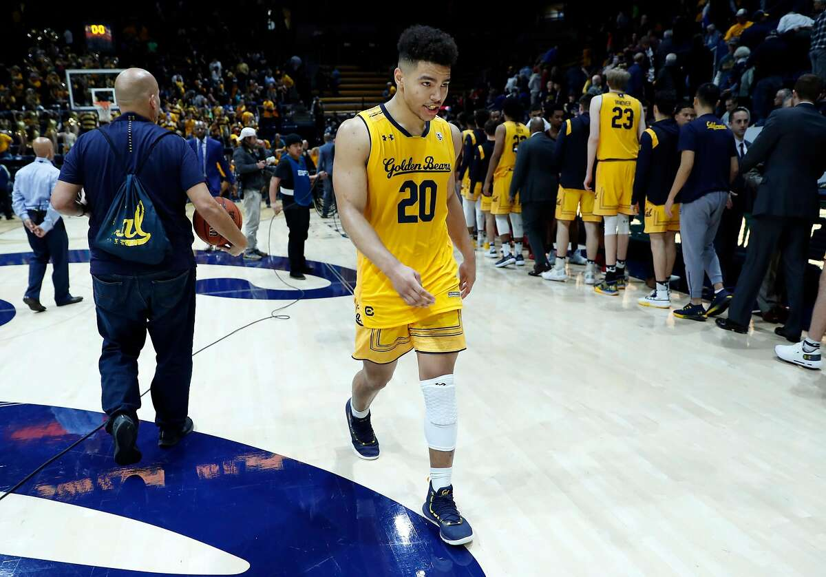 California's Matt Bradley walks off the court after Stanford's 84-81 win in Pac 12 Men's basketball game at Haas Pavilion in Berkeley, Calif., on Thursday, February 3, 2019.