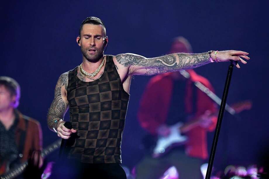 ATLANTA, GA - FEBRUARY 03:  Adam Levine of Maroon 5 performs during the Pepsi Super Bowl LIII Halftime Show at Mercedes-Benz Stadium on February 3, 2019 in Atlanta, Georgia. Photo: Kevin Winter, Getty Images / 2019 Getty Images