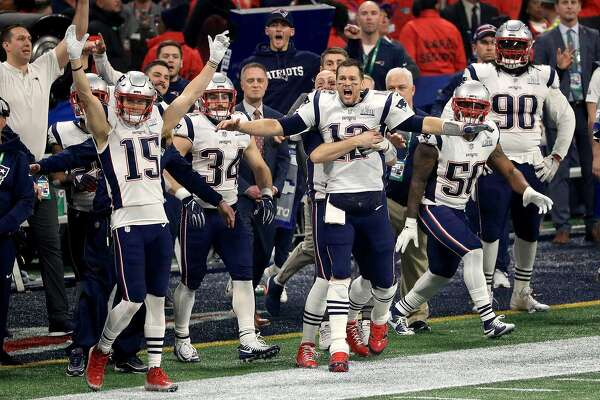ATLANTA, GA - FEBRUARY 03: The New England Patriots celebrate after winning the Super Bowl LIII at against the Los Angeles Rams Mercedes-Benz Stadium on February 3, 2019 in Atlanta, Georgia. The New England Patriots defeat the Los Angeles Rams 13-3. (Photo by Mike Ehrmann/Getty Images)