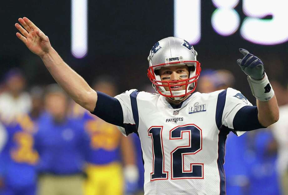 ATLANTA, GA - FEBRUARY 03: Tom Brady #12 of the New England Patriots celebrates after winning the Super Bowl LIII at against the Los Angeles Rams Mercedes-Benz Stadium on February 3, 2019 in Atlanta, Georgia. The New England Patriots defeat the Los Angeles Rams 13-3. (Photo by Kevin C. Cox/Getty Images) Photo: Kevin C. Cox, Staff / Getty Images / 2019 Getty Images