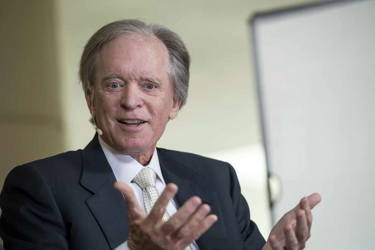 Bill Gross, fund manager of Janus Capital Management, speaks during a Bloomberg Television interview at the Milken Institute Global Conference in Beverly Hills on May 3, 2017.