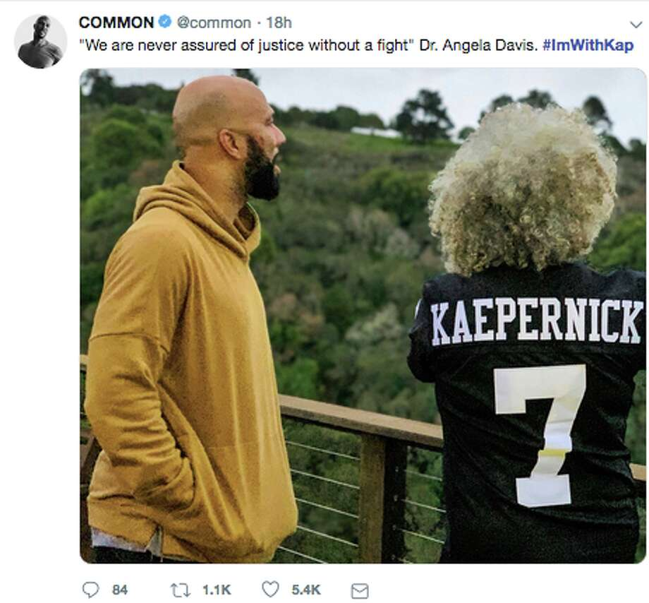 "Thousands of people hash-tagged their social media with posts with #ImWithKap, declaring their  support for former San Francisco 49ers quarterback Colin  Kaepernick and boycotting the Super Bowl citing  the NFL's ""racist treatment"" of the embattled athlete. Photo: Twitter"