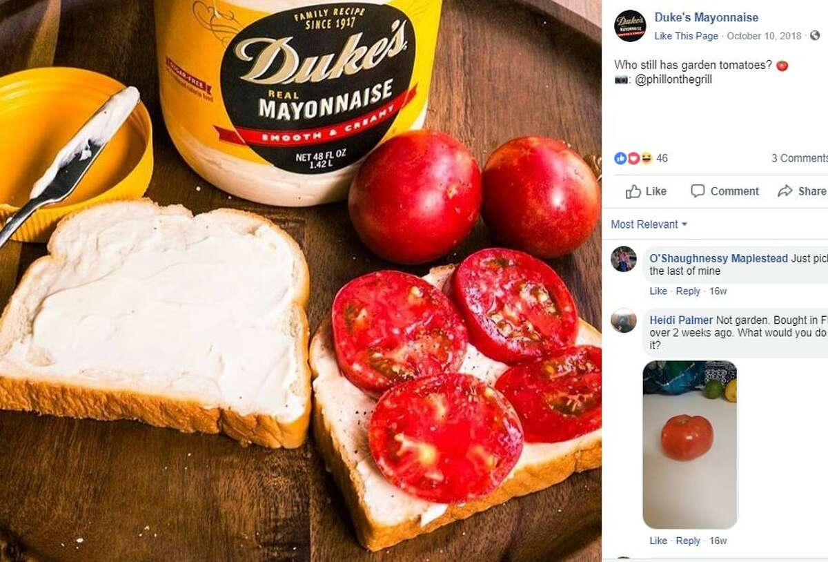 Duke's Mayonnaise Southern mayonnaise brands like Duke's tend to be a little tangier and looser in consistency than national brands like Hellmann's and Miracle Whip, Southern Living reports.