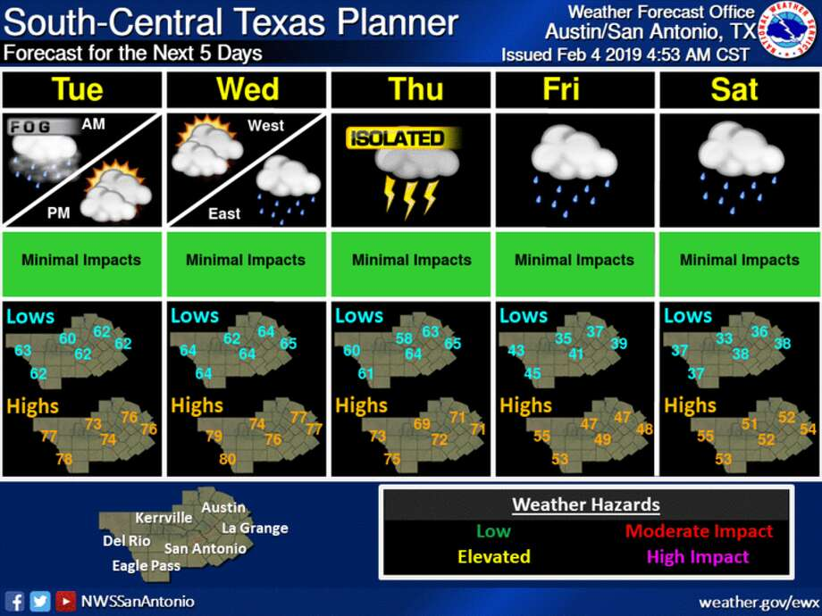 On Thursday, an upper disturbance will raise the chances of thunderstorms and a cold front. Photo: National Weather Service